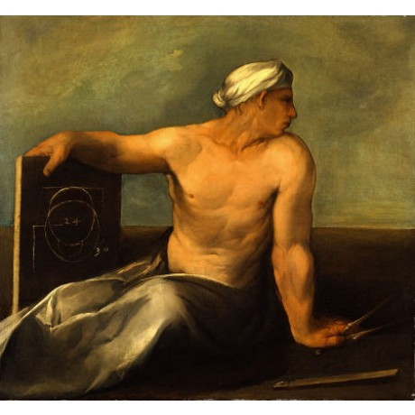 "DOSSO DOSSI ""A Personification Of Geometry"" NUDE Art various SIZES available"