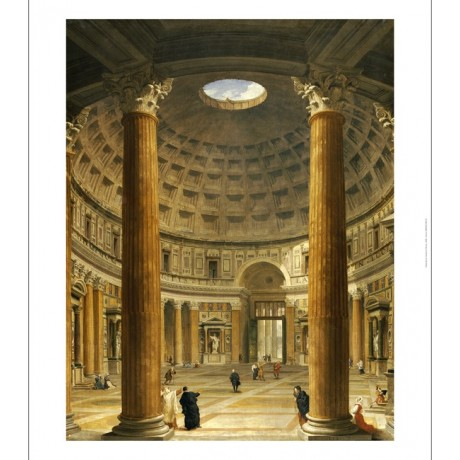 "GIOVANNI PAOLO PANNINI ""Pantheon, Rome"" CANVAS PRINT ! various SIZES, BRAND NEW"