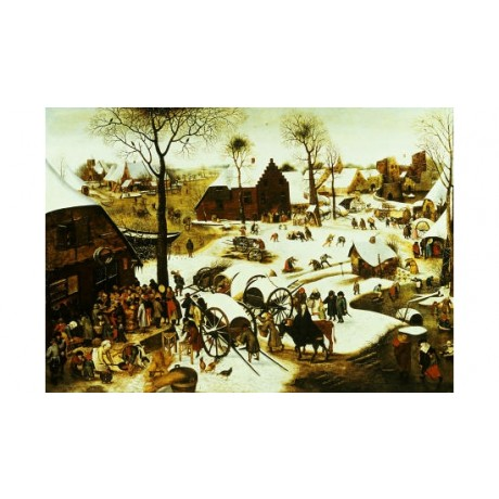 "PIETER BRUEGHEL II ""Census At Bethlehem"" CANVAS ART ! various SIZES, BRAND NEW"