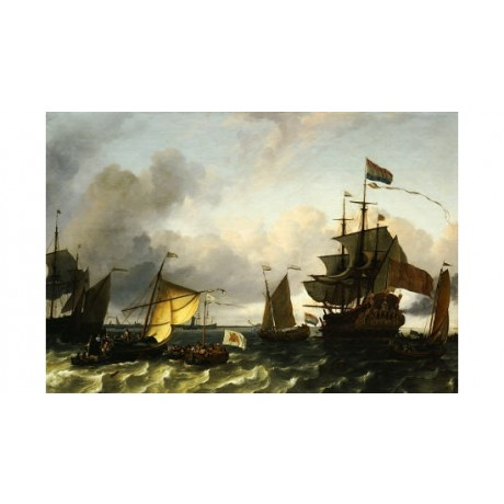 "LUDOLF BAKHUIZEN ""Frigate Princes Maria"" seascape PRINT various SIZES, BRAND NEW"