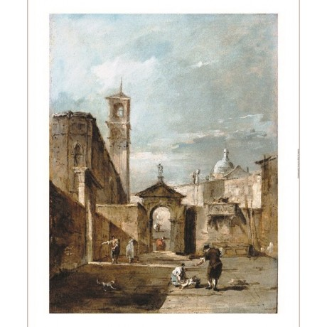 FRANCESCO GUARDI Capriccio Of A Venetian Campo CANVAS! various SIZES, BRAND NEW