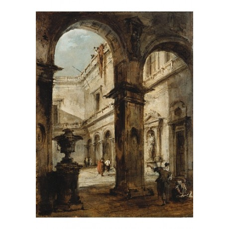 "FRANCESCO GUARDI ""Capriccio Of A Palace Courtyard"" NEW various SIZES, BRAND NEW"