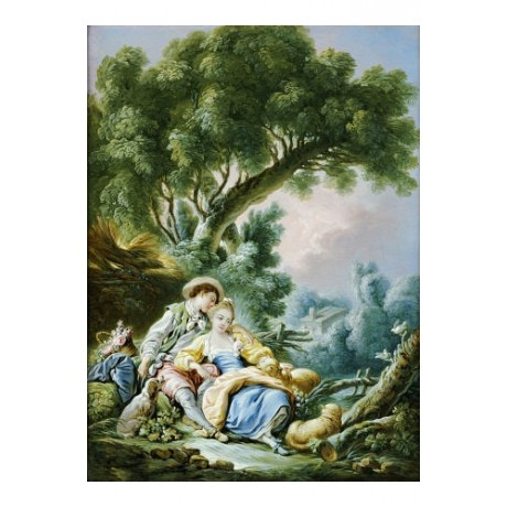"FRANCOIS BOUCHER (STUDIO OF) ""Rest"" ART choose your SIZE, from 55cm up"