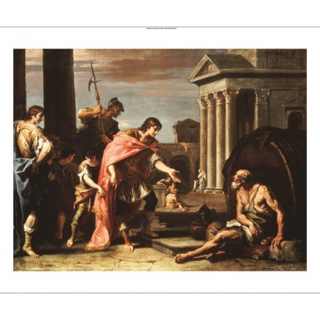 "SEBASTIANO RICCI ""Alexander And Diogenes"" military NEW various SIZES, BRAND NEW"