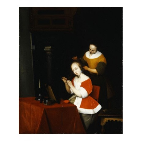 GERARD TERBORCH Lady Having Her Hair Combed PRINT choose SIZE, from 55cm up, NEW