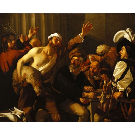 DIRCK VAN BABUREN Christ Driving the Moneychangers from the Temple NEW PRINT!!
