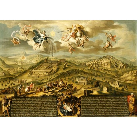 "JOSEPH STEPHAN ""A View of Bethlehem"" MAGI trinity nativity journey CANVAS PRINT"