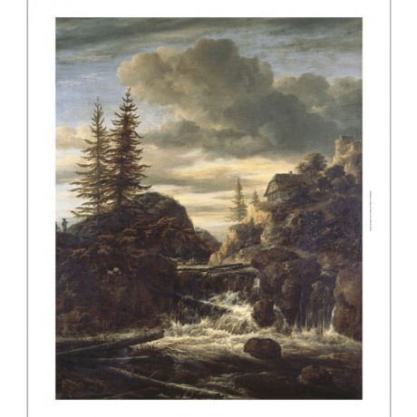 "JACOB VAN RUISDAEL ""Norwegian Landscape With Waterfall"" various SIZES, BRAND NEW"