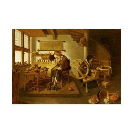 "QUIRYN VAN BREKELENKAM ""Cobbler's Shop"" PRINT NEW choose SIZE, from 55cm up, NEW"