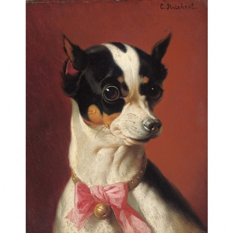 "CARL REICHERT ""A Toy Pincher"" dog CANVAS visit our SHOP various SIZES, BRAND NEW"