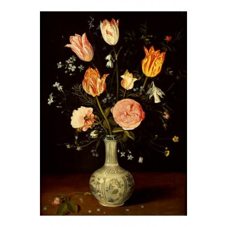 JAN BRUEGHEL THE ELDER (FOLLOWER OF) FLOWERS ART choose your SIZE, from 55cm up