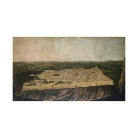 "JEAN-BAPTISTE VANMOUR "" Jerusalem"" ON CANVAS choose SIZE, from 55cm upwards, NEW"