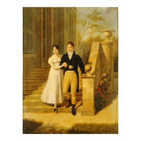 ANTHELME FRANCOIS LAGRENEE Portrait PRINT CANVAS choose SIZE, from 55cm up, NEW