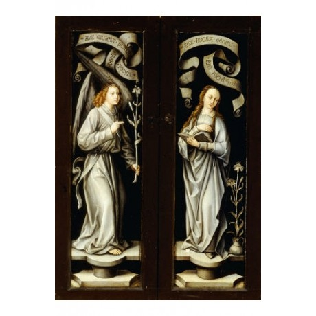 MASTER OF SAINT ANNA Annunciation Reverse Triptych NEW various SIZES, BRAND NEW