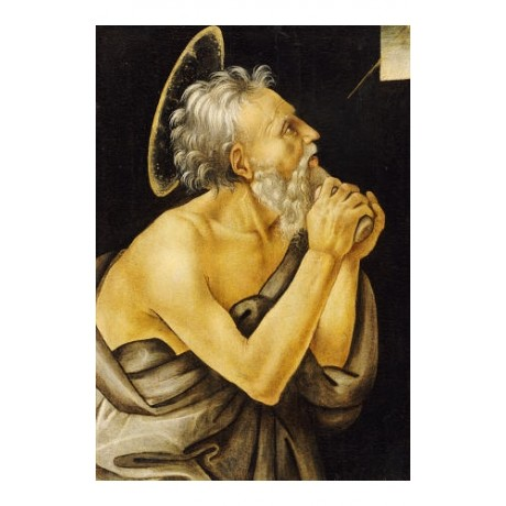 "FILLIPPINO LIPPI ""St Jerome"" religious ON CANVAS choose SIZE, from 55cm up, NEW"