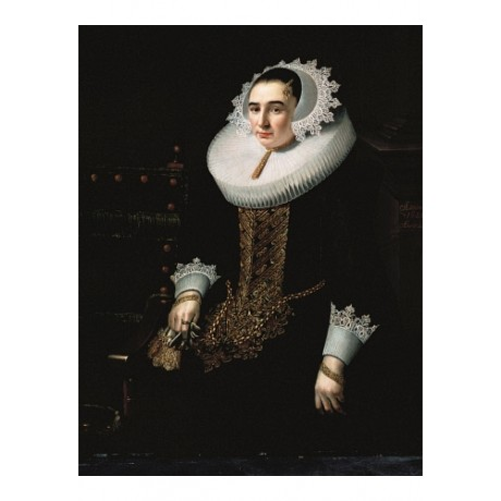 "ADRIAEN HANNEMAN ""Portrait Of Princess Sohns"" ON CANVAS various SIZES, BRAND NEW"