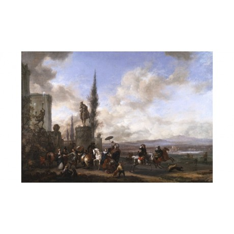 "PHILIPS WOUWERMANS ""The Departure For The Hunt"" CANVAS! various SIZES, BRAND NEW"