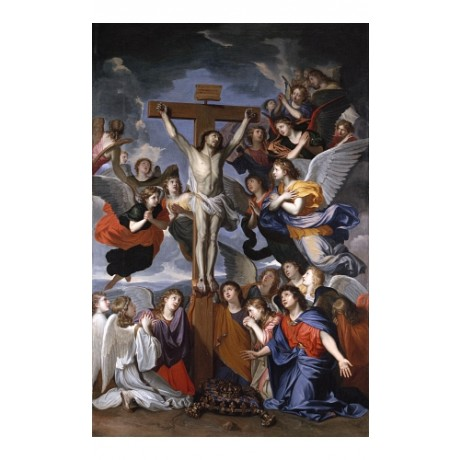"CHARLES LEBRUN ""The Crucifixion"" new print on CANVAS! various SIZES, BRAND NEW"
