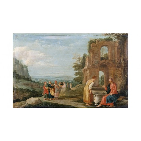 "JOHANN KONIG ""Christ And The Woman Of Samaria"" CANVAS! various SIZES, BRAND NEW"