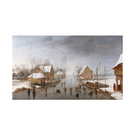 "JAN WILDENS ""A Winter River Landscape"" SEE OUR SHOP! various SIZES available"