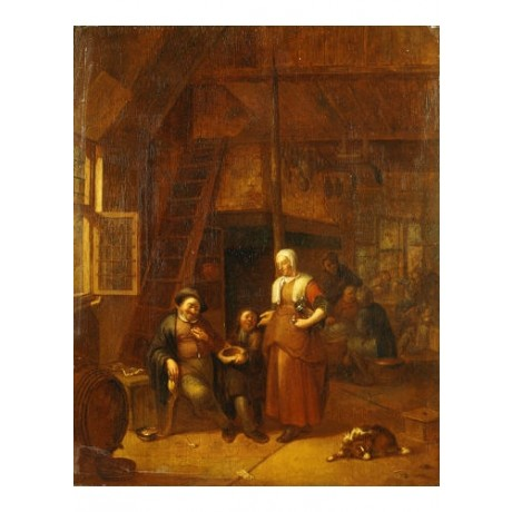 GILLIS DE WINTER Inn Old Master PRINT ON CANVAS choose SIZE, from 55cm up, NEW