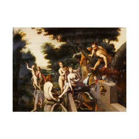 "FRANCOIS CLOUET (FOLLOWER OF ) ""Diana And Acteon"" nude various SIZES, BRAND NEW"