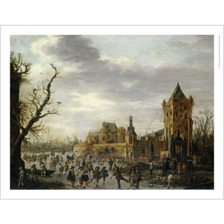 JAN VAN GOYEN Kasteel Batestein Vianen PRINT NEW choose SIZE, from 55cm up, NEW