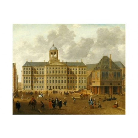 "ISAAC VAN NICKELE ""Town Hall, Amsterdam"" PRINT NEW choose SIZE, from 55cm up"