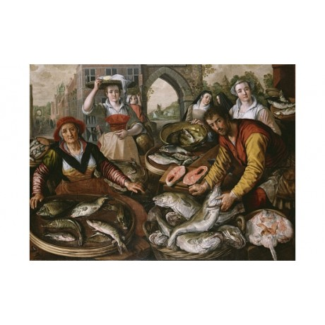 "JOACHIM BEUCKELAER ""The Four Elements"" new CANVAS print various SIZES, BRAND NEW"