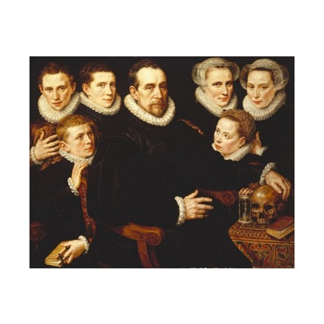 "ADRIAEN THOMASZ ""Group Portrait Of A Gentleman"" CANVAS! various SIZES, BRAND NEW"