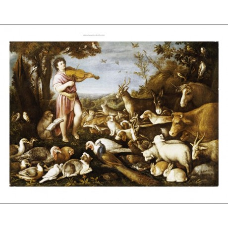 "canvas LEANDRO ""Orpheus Charming Animals"" NEW choose your SIZE, 55cm to X LARGE"