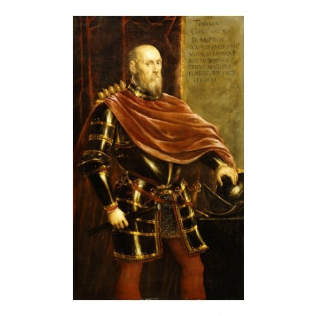 "JACOPO ROBUSTI ""Portrait Of Tommaso Contarini"" military various SIZES, BRAND NEW"