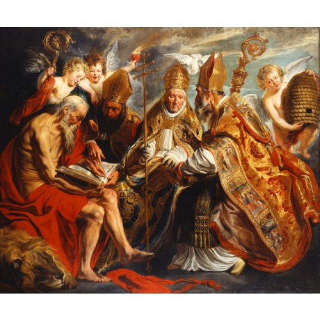 JACOB JORDAENS The Four Doctors of the Church SCEPTRE clergy mitre NEW PRINT!!