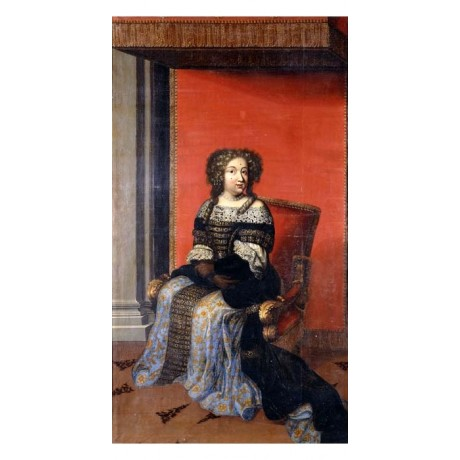 ANTOINE DIEU Portrait of Queen Maria Theresa BEJEWELLED BODICE lace NEW CANVAS