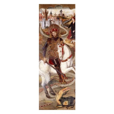 JAIME HUGUET Saint George and the Dragon COURAGE hero princess sword horse NEW