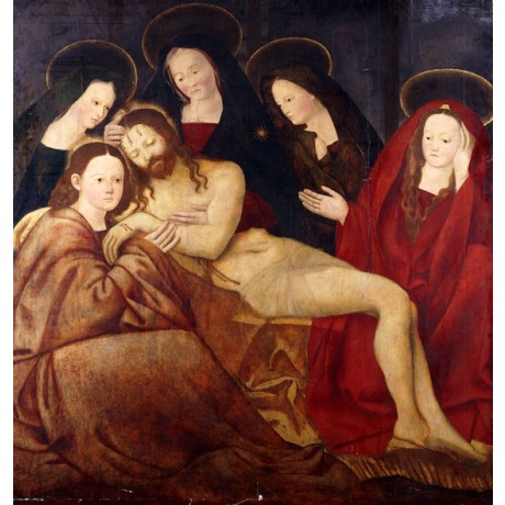 "ARBRUZZO ""The Deposition"" PASSION of christ bleeding women lament CANVAS PRINT!"