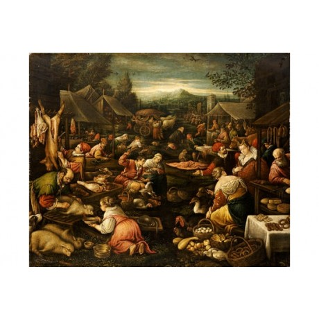 "JACOPO BASSANO (FOLLOWER OF) ""A Country Market"" print various SIZES, BRAND NEW"