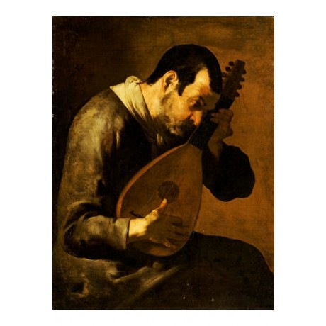 """BOLOMEO PASSANTE """"Man Playing A Mandolin"""" print choose SIZE, from 55cm up, NEW"""