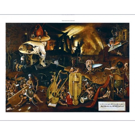 "FOLLOWER OF HIERONYMOUS BOSCH ""Hell"" new CANVAS print! various SIZES, BRAND NEW"