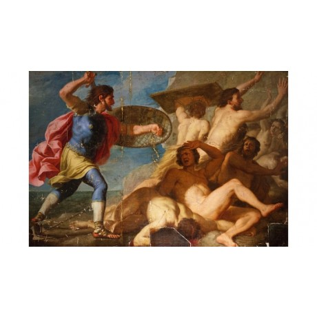 "ROMANELLI ""Samon Vanquishing Philistines"" STRENGTH fear defeat CANVAS PRINT"