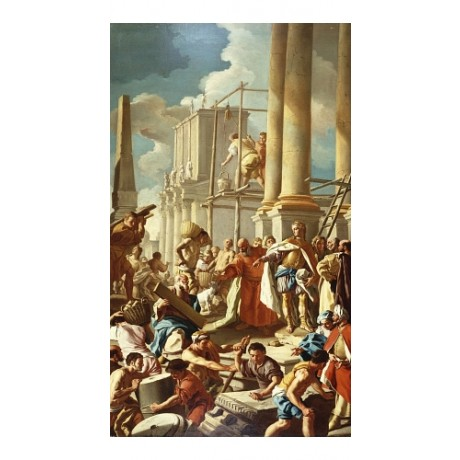 "FRANCESCO DE MURA ""Robert of Anjou Constructing Church"" various SIZES, BRAND NEW"