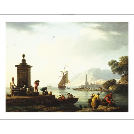 CLAUDE JOSEPH VERNET View Of The Harbor At Genoa NEW! various SIZES, BRAND NEW