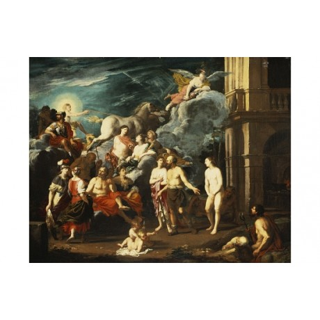 JOHANN HEISS Presentation Of Pandora By Vulcan CANVAS! various SIZES, BRAND NEW