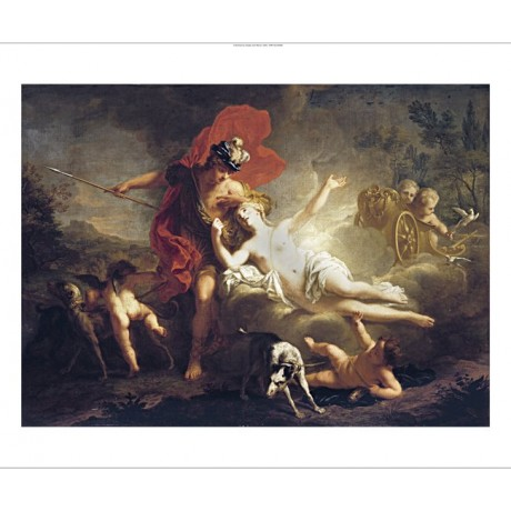 "JEAN MARC NATTIER ""Venus And Adonis"" new CANVAS print! various SIZES, BRAND NEW"