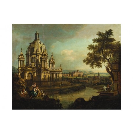 BERNARDO BELLOTTO Capriccio With Domed Church in Pirna various SIZES, BRAND NEW