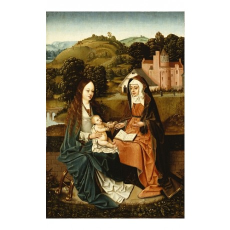NORTH-NETHERLANDISH SCHOOL Holy Family With St Anne NEW various SIZES, BRAND NEW
