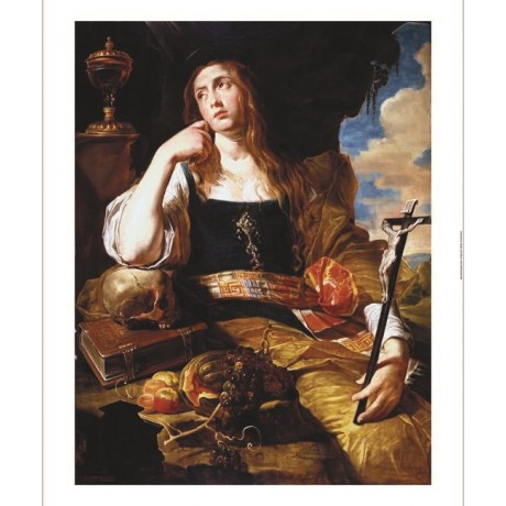 "ABRAHAM JANSSENS ""St Mary Magdalene"" new CANVAS print! various SIZES, BRAND NEW"