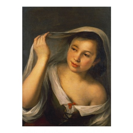 "BARTOLOME ESTEBAN MURILLO ""Young Girl Raising Her Veil"" various SIZES, BRAND NEW"