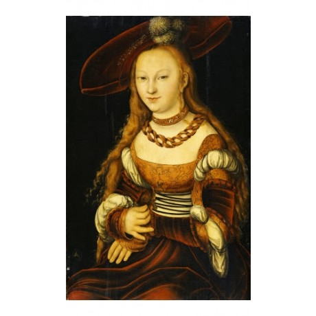 "LUCAS CRANACH I ""Portrait Of A Young Lady"" print NEW various SIZES available"
