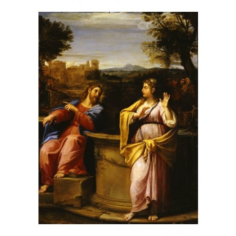 "FRANCESCO ALBANI ""Christ And Woman Of Samaria"" PRINT various SIZES available"
